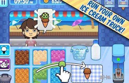 彩虹冰淇淋店手游截图1