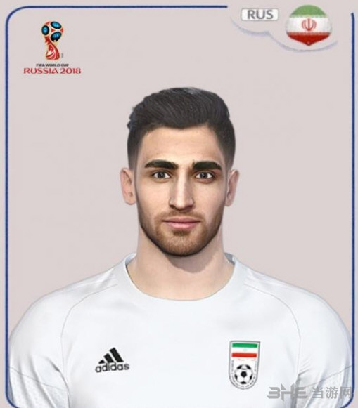 实况足球2018世界杯伊朗球员贾汉巴赫什面部补丁截图0