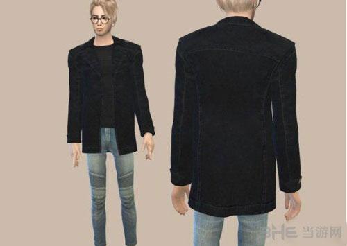 模拟人生4男款黑外套MOD截图0