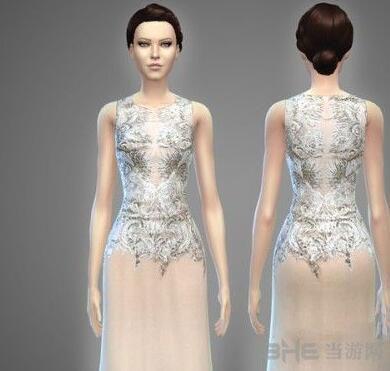 模拟人生4女性高档蕾丝雪纺礼服MOD截图0