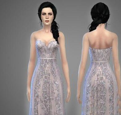 模拟人生4女性高档蕾丝雪纺礼服MOD截图1