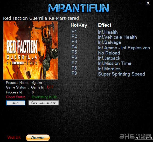 红色派系游击战重制版十项修改器截图0