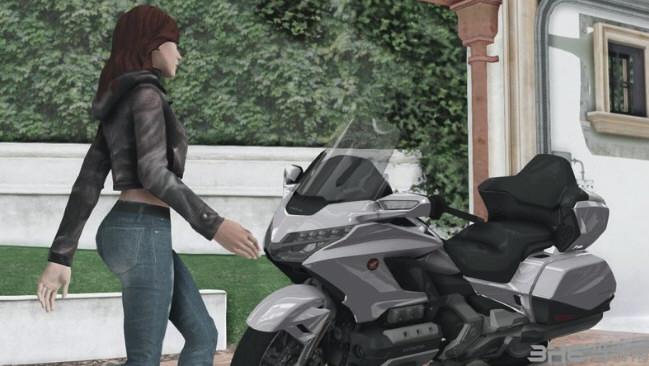 侠盗猎车手:圣安地列斯2018年本田金翼DCT摩托车MOD截图1