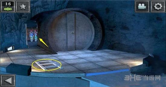 這個機關就是第2個平臺那么得到的破解密碼,我們只要按照紅的(三角形+)藍的(圓形X)黃的(方形+)綠色(圓形X)