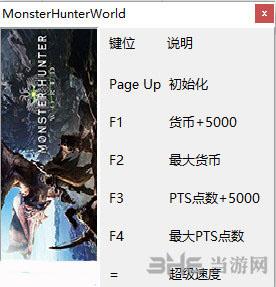 怪物猎人世界五项修改器截图0