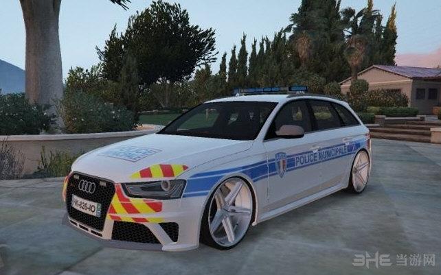 GTA5法国警察局奥迪RS4警车MOD截图0