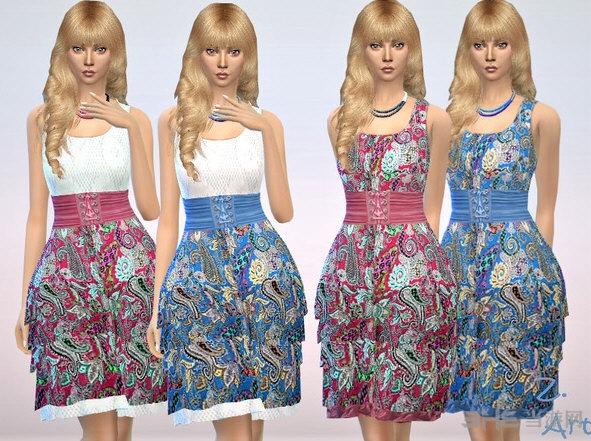 模拟人生4夏季18-02多彩连衣裙MOD截图0