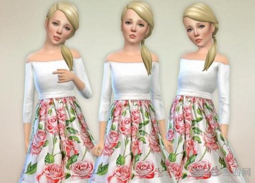 模拟人生4Lorelai连衣裙MOD截图0