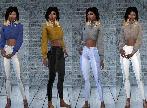 模拟人生4时尚双色服饰套装MOD截图0
