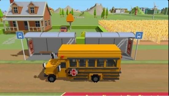 校车模拟器:块状世界截图0