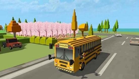 校车模拟器:块状世界截图2