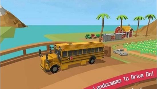 校车模拟器:块状世界截图3