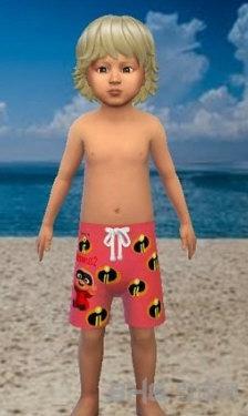模拟人生4儿童卡通泳裤MOD截图1
