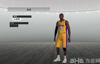NBA2K19湖人队科比布莱恩特身形面补MOD截图0