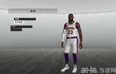 NBA2K19湖人队詹姆斯身形面补MOD截图0