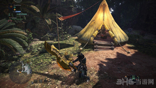 怪物猎人世界金色斩击斧MOD截图1