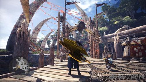 怪物猎人世界金色斩击斧MOD截图4