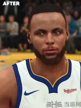 NBA2K19斯蒂芬库里薄发和短发面补MOD截图0
