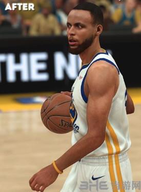 NBA2K19斯蒂芬库里薄发和短发面补MOD截图2
