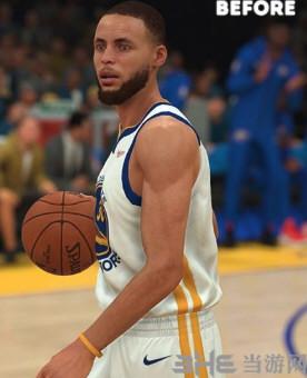 NBA2K19斯蒂芬库里薄发和短发面补MOD截图3