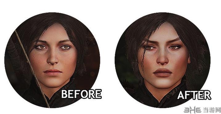 古墓丽影:暗影劳拉脸部模型替换MOD截图0
