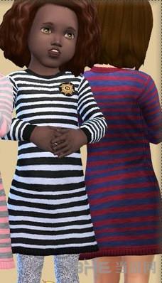 模拟人生4儿童条纹连衣裙MOD截图1