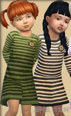 模拟人生4儿童条纹连衣裙MOD截图0