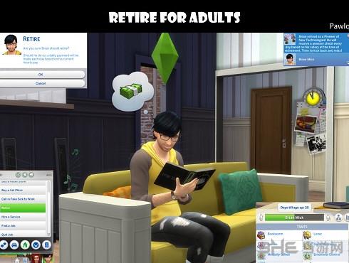 模拟人生4成年人退休MOD截图0