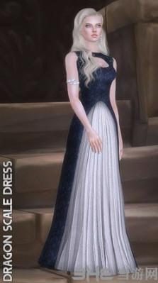 模拟人生4权力的游戏龙母裙子MOD截图0