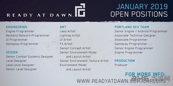Ready at Dawn招聘图片2