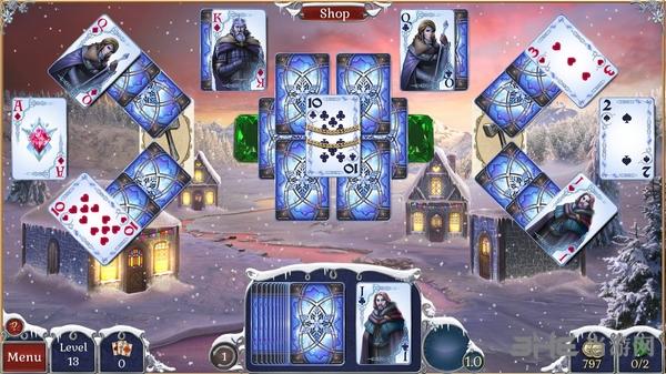 宝石配对纸牌冬季雪景截图0