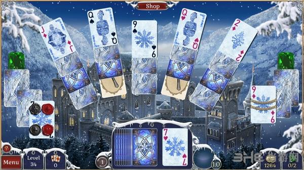 宝石配对纸牌冬季雪景截图2