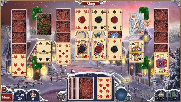 宝石配对纸牌冬季雪景截图3
