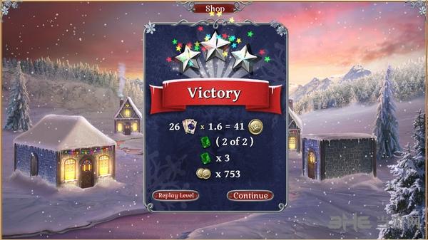 宝石配对纸牌冬季雪景截图7