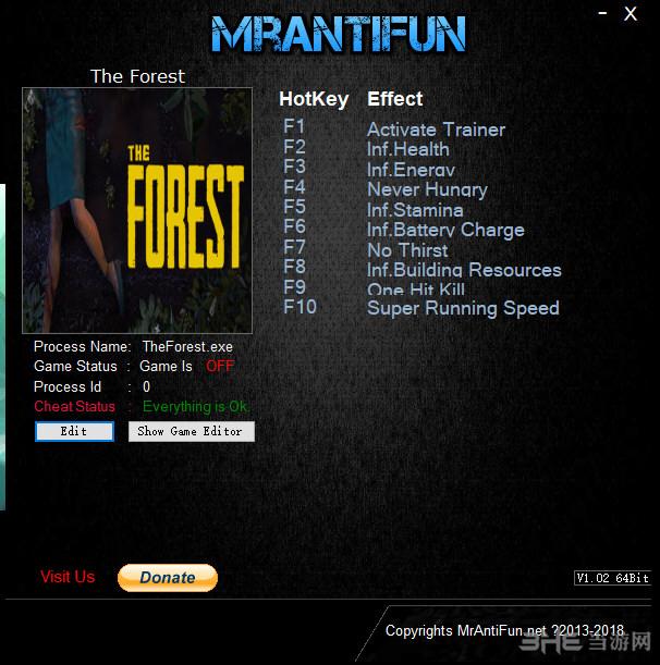 森林九项修改器截图0