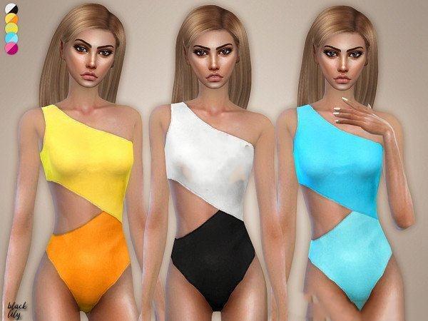 模拟人生4双色露肩泳装MOD截图0