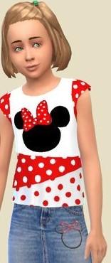 模拟人生4女孩米老鼠牛仔服装MOD截图0