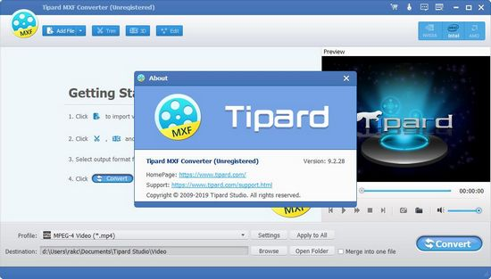 Tipard MXF Converter图片2
