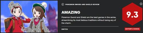 《宝可梦:剑/盾》IGN评分