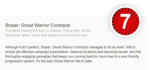 《狙击手:幽灵战士契约》PC Invasion评分