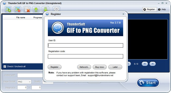 ThunderSoft GIF to PNG Converter图