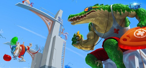 英雄联盟手游鳄鱼皮肤图