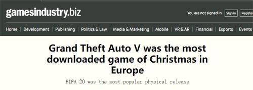 《GTA5》欧洲下载榜首消息