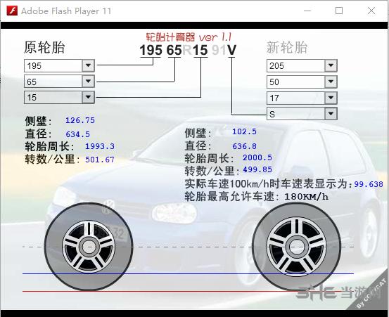 輪胎計算器軟件