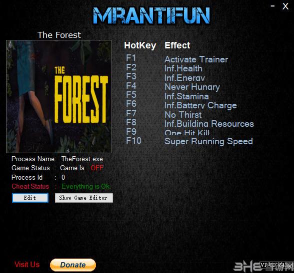 森林多功能修改器截图0