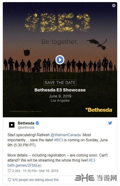 贝塞斯达E3宣传图