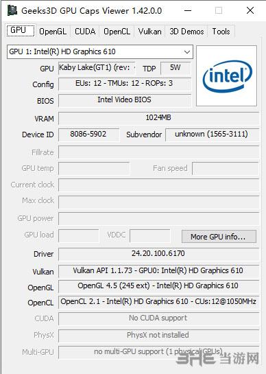 GPU Caps Viewer(显卡识别工具)