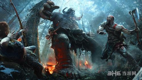 《战神》游戏宣传图
