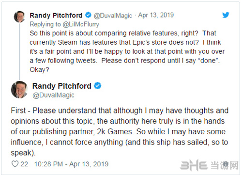 Pitchford谈及无主3选择Epic