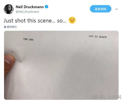 Neil Druckmann发推拍摄完毕
